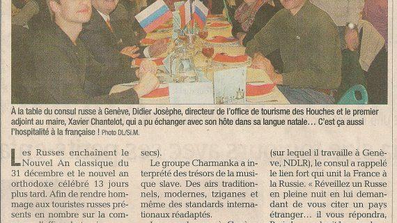 LES HOUCHES- Soirée cabaret à la table du consul russe