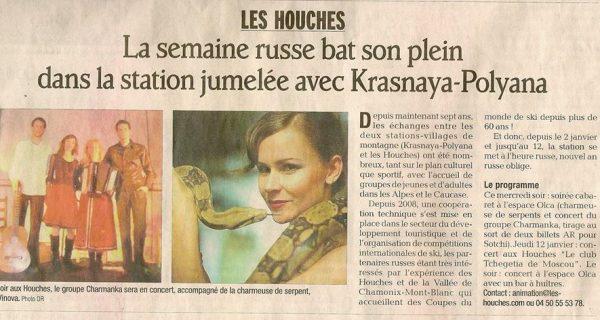 Les houches Le Dauphiné Libéré 4 janvier 2012