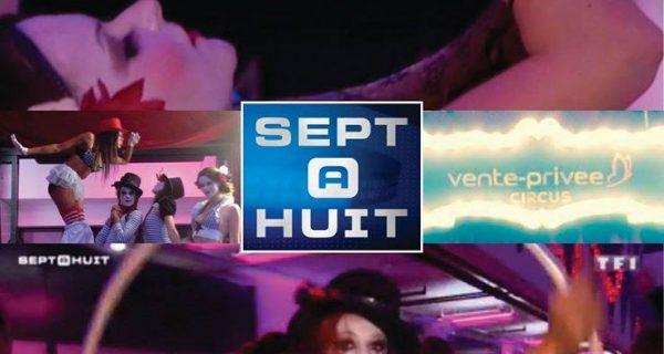 La charmeuse de serpent dans l'émission Sept à Huit de TF1 Avec Hanabi circus - Ventre privée